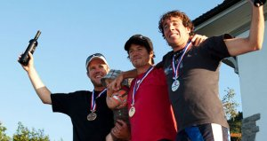 Swiss Champions 2009 in solo from left to right: Chrigel Maurer, Hervé Cerutti, Remo Niederer