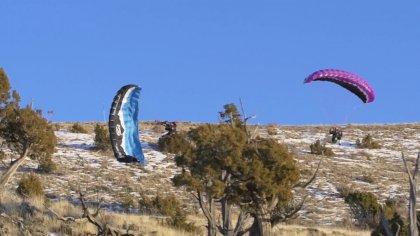 Speed Flyer Survives Crash Landing