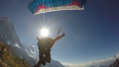 The sun, the sky and the alps #speedflying #DobDurden #JosephInnes