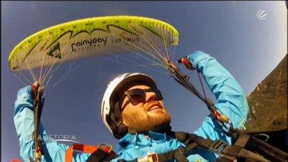 Simon Winkler and Sebastian Kahn at Sat1 Planetopia - Acro Paragliding