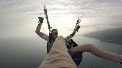 Acro paragliding in Gagra