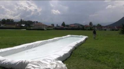 justACRO Boogie - water slide is ready!