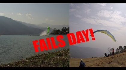 Hoy es un dia de aprender a fallar...paravlogs #2 TODAY IS PARAGLIDING FAILS