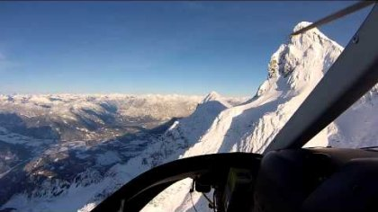 Civilization: heli Speedriding laps on Mt. Currie, BC