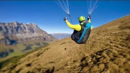 Autumn Paragliding - Cinematic footage gimbal chasecam
