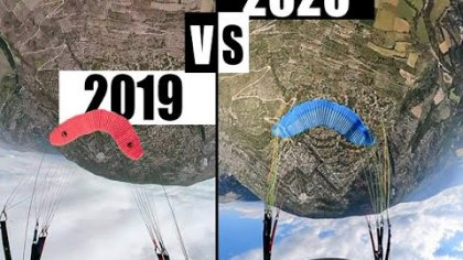 2019 VS 2020 - COMPARING MY RUNS - ACRO PARAGLIDING