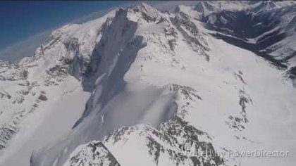 acro paragliding over jumbo glacier