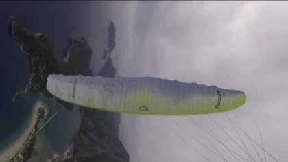 Paragliding wing-overs (oludeniz)
