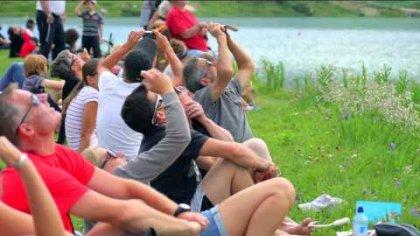 Tignes - Show de parapente synchronisé Sup'Air - 25 juillet 2013