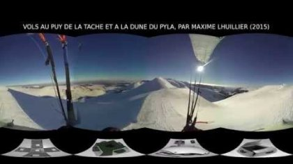 360 (interactive) video, paragliding at the pyla dune and puy de la tache